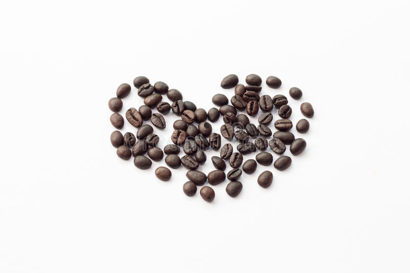 Coeur des grains de café photographie stock