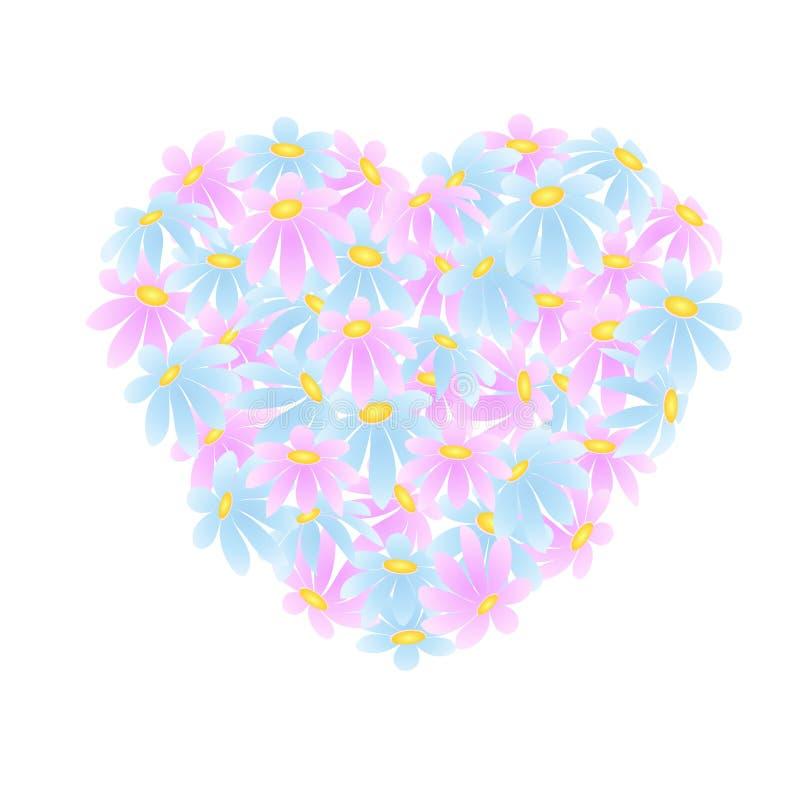 Coeur des marguerites illustration libre de droits