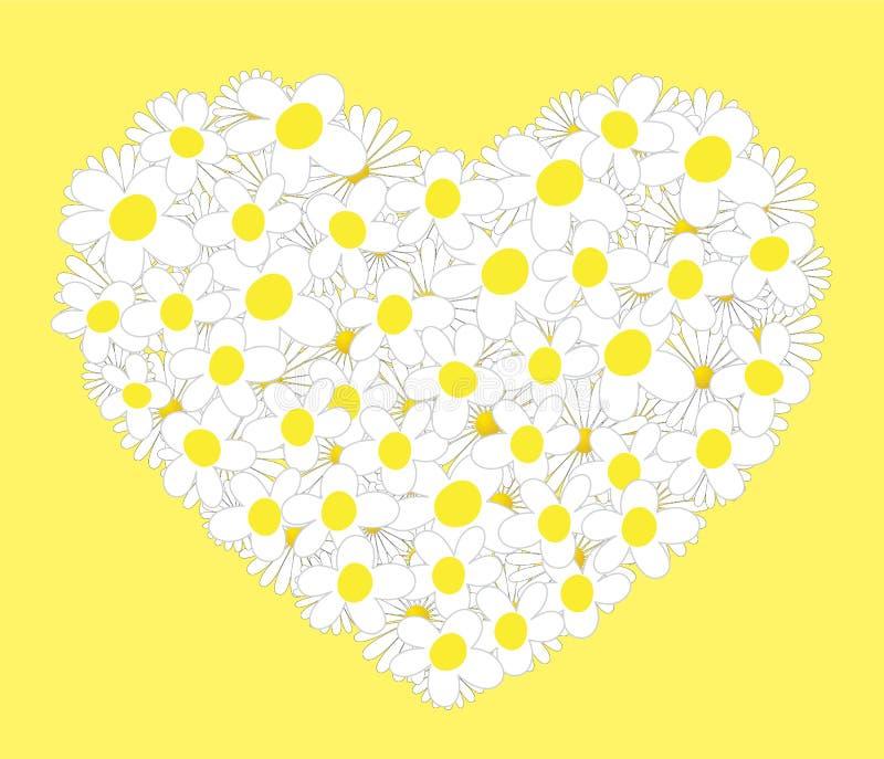 Coeur des marguerites illustration stock
