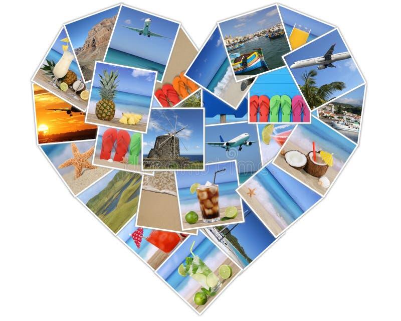 Coeur des photos sur les vacances d'été, la plage, les vacances et le traveli photos libres de droits