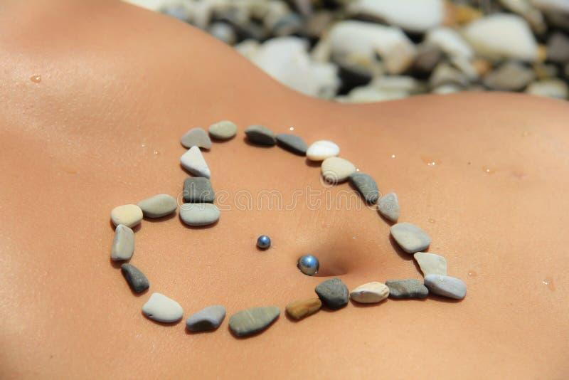 Coeur des pierres images libres de droits
