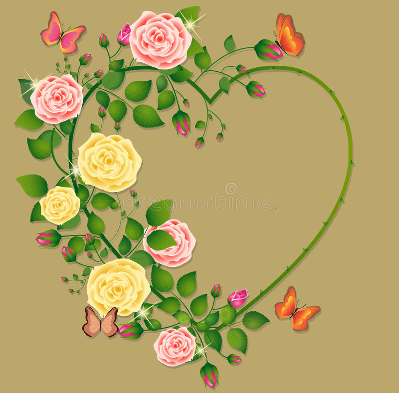 Coeur des roses illustration stock