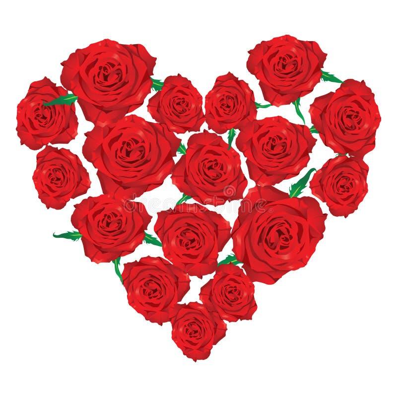 Coeur des roses illustration libre de droits