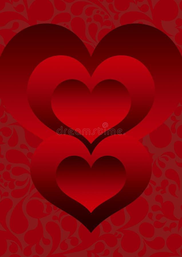 Coeur deux illustration stock