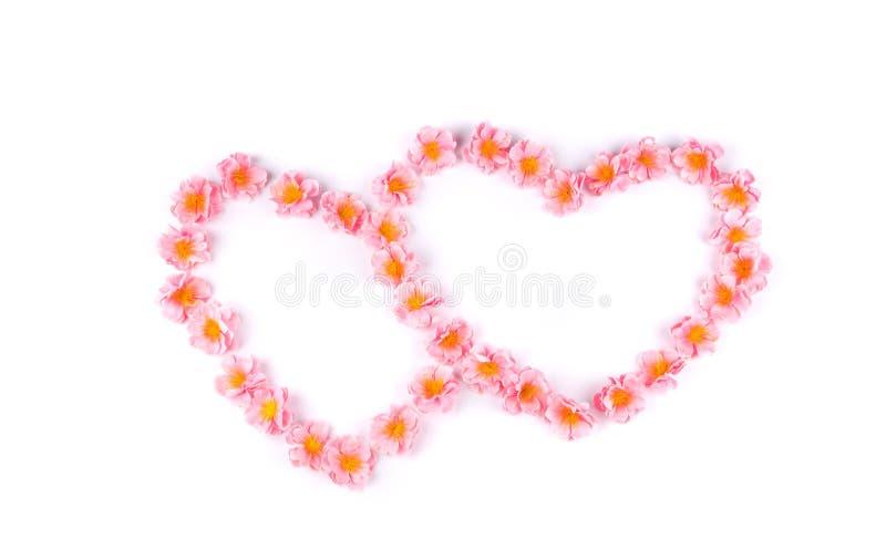 Coeur deux floral photographie stock