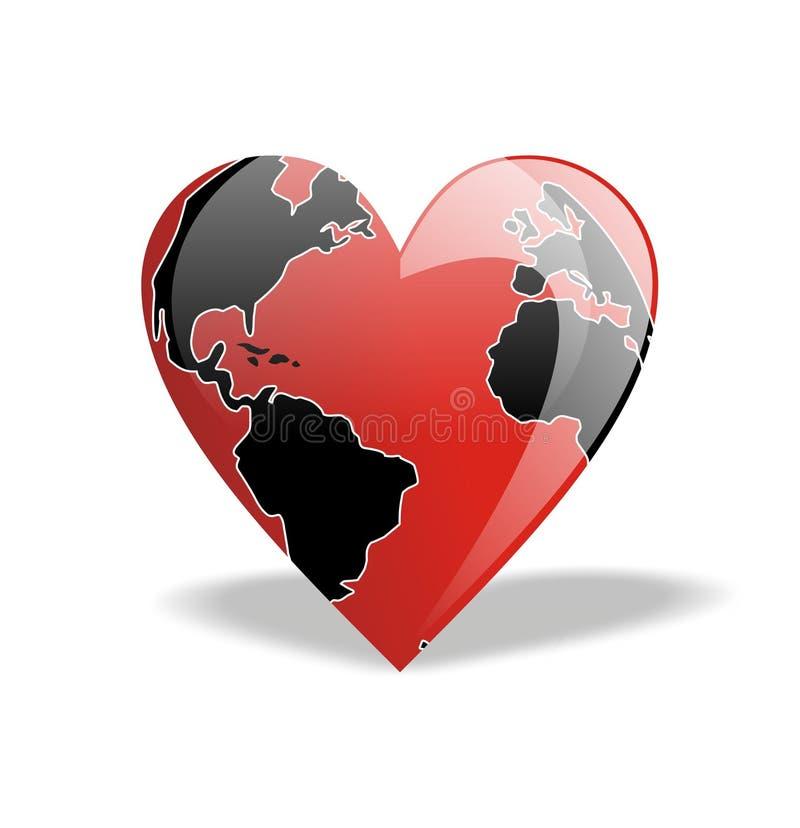 Coeur du monde illustration de vecteur