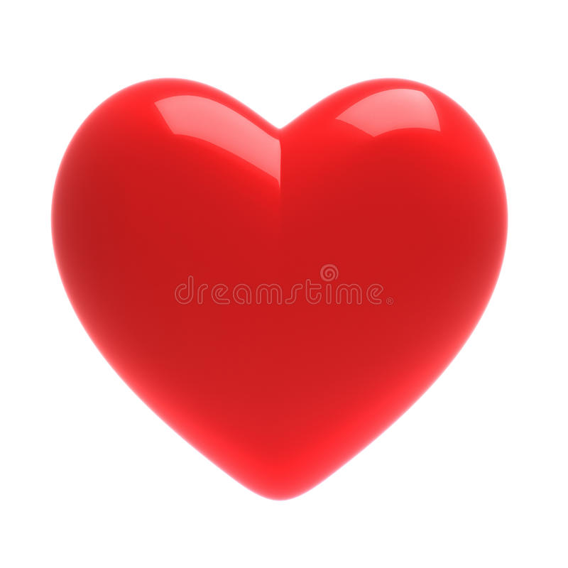 coeur du rouge 3D illustration stock