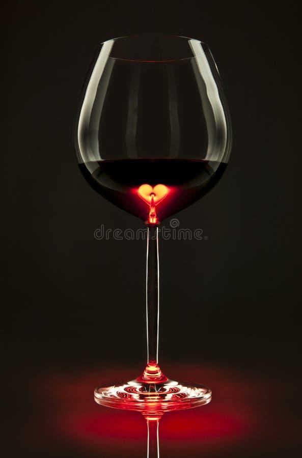 Coeur du vin image stock