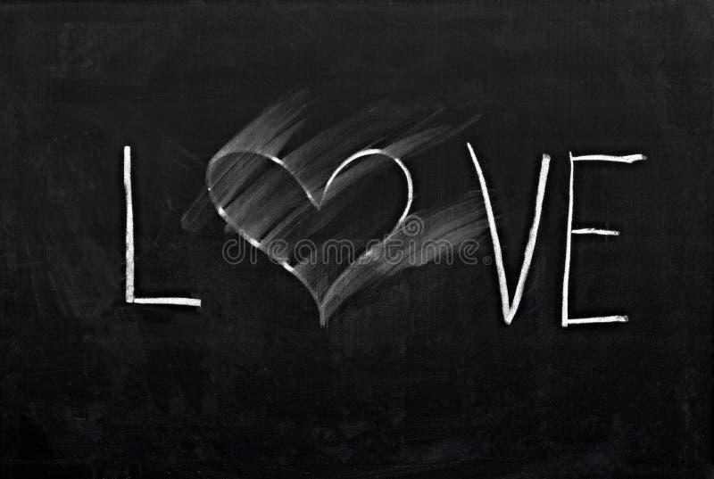 Coeur effacé sur le tableau illustration libre de droits