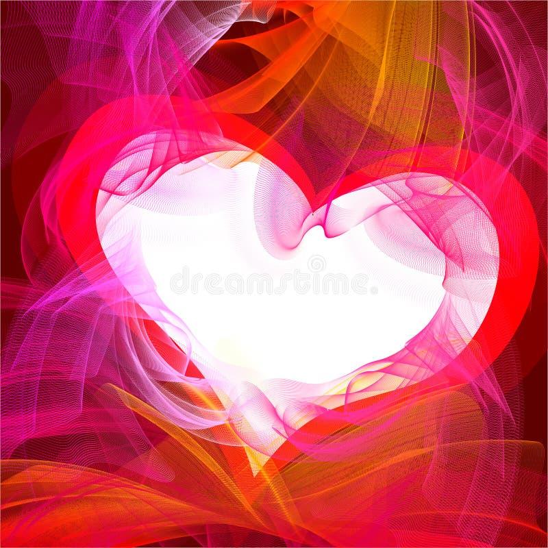 Coeur embrasé illustration libre de droits