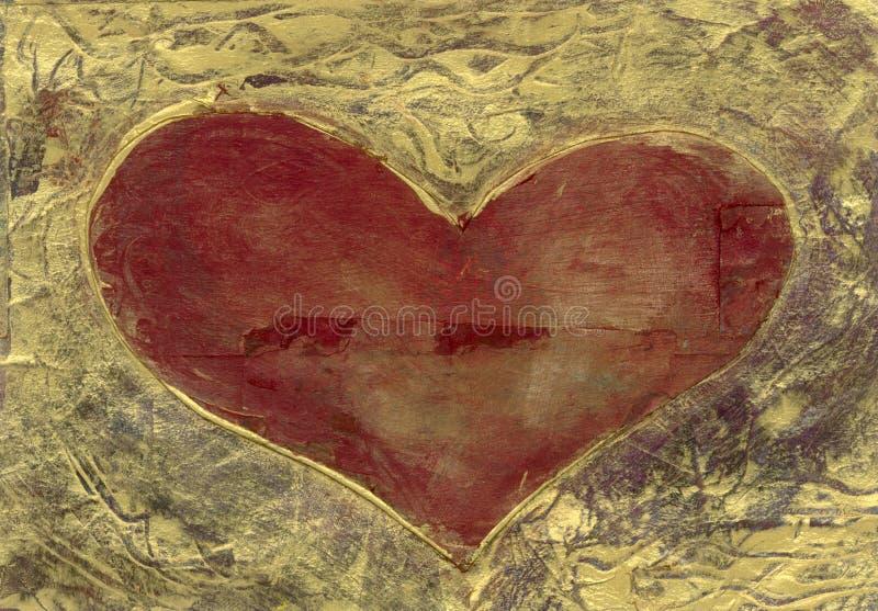 Coeur en or illustration libre de droits