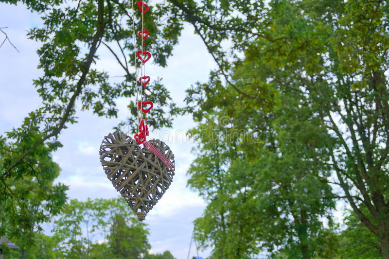 Coeur en bois photographie stock libre de droits