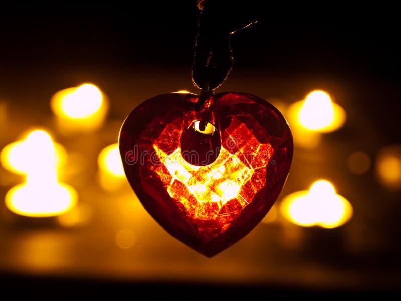 Coeur en cristal images stock