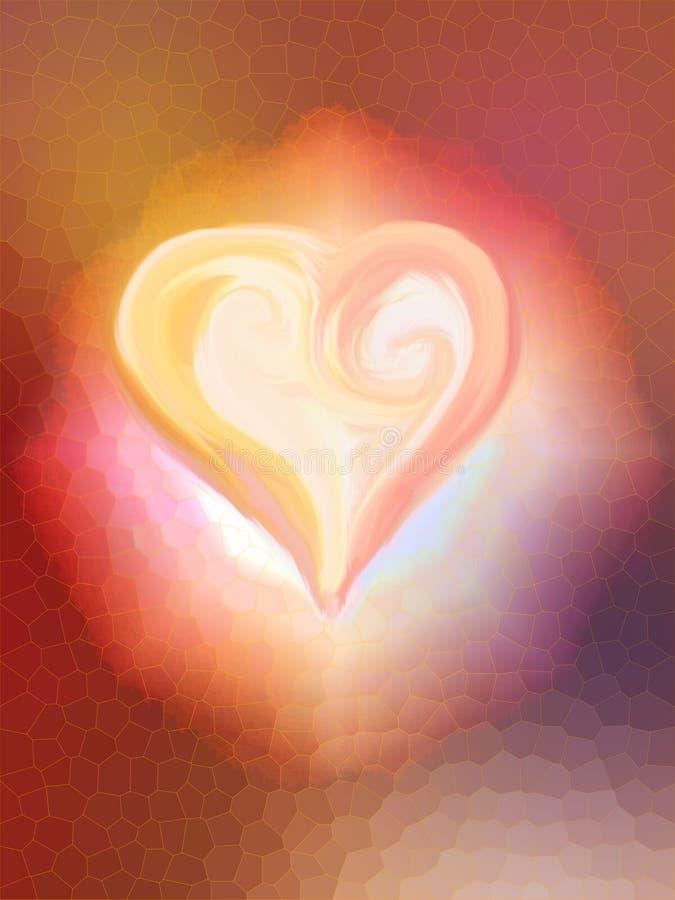 Coeur en fleur illustration libre de droits
