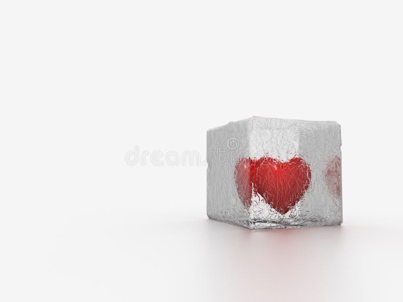 Coeur en glace illustration de vecteur