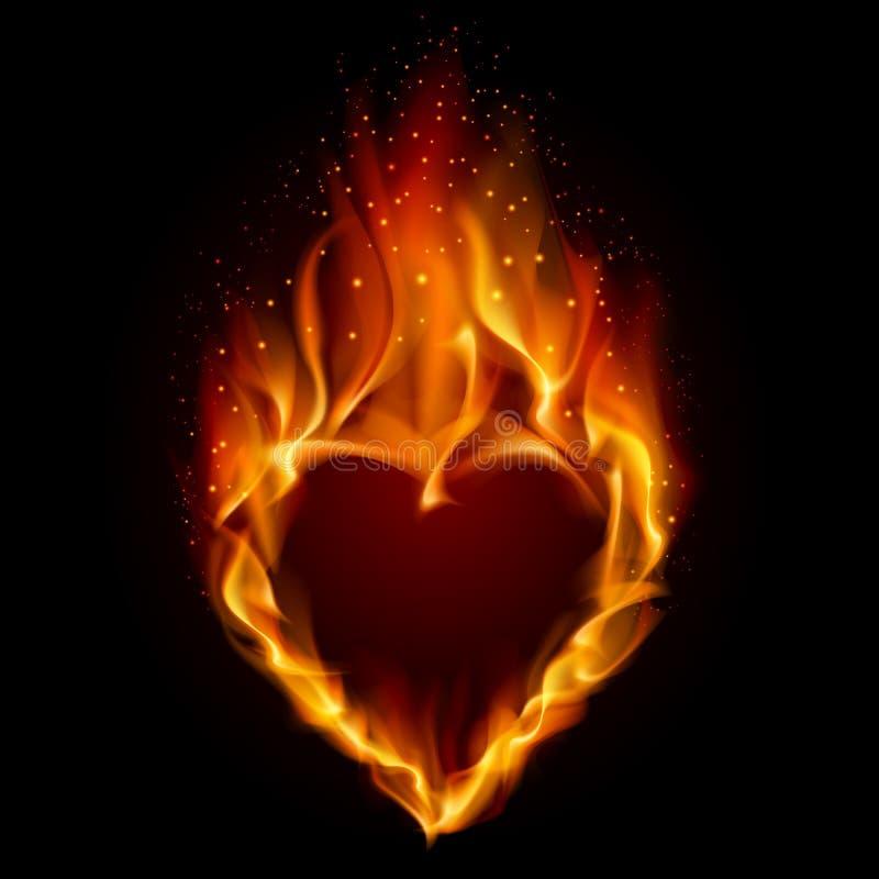 Coeur en incendie illustration libre de droits