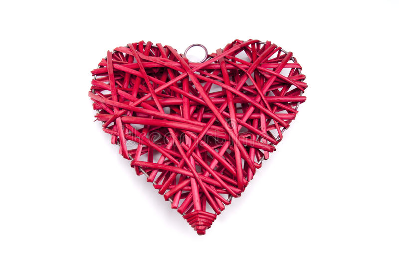 Coeur en osier rouge image libre de droits image 29239016 - Coeur en osier ...