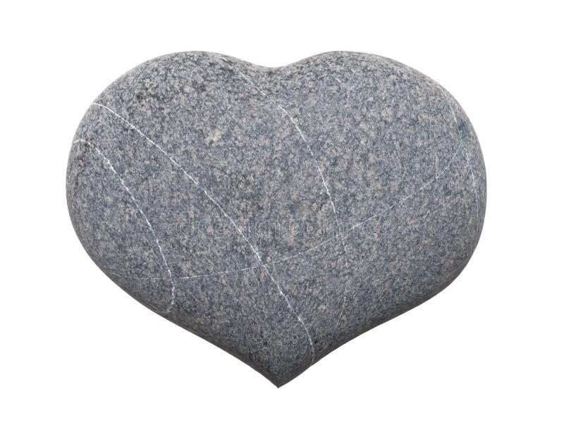 Coeur en pierre image libre de droits