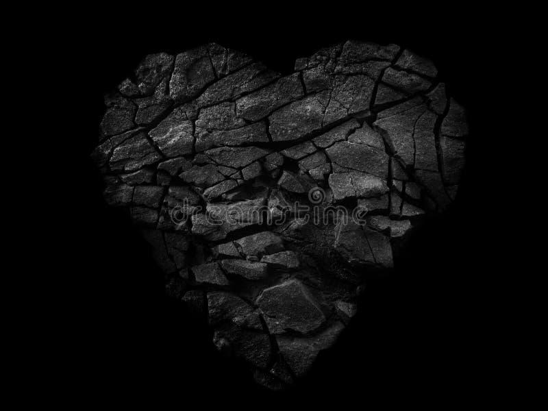Coeur en pierre abstrait image stock