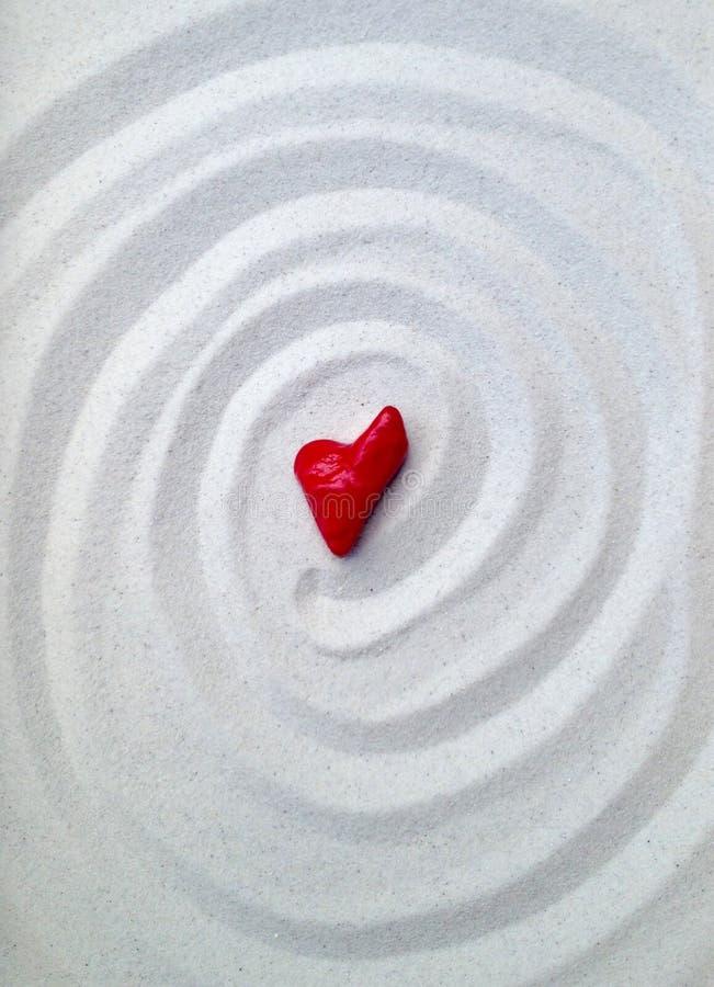 Coeur en pierre rose photos stock