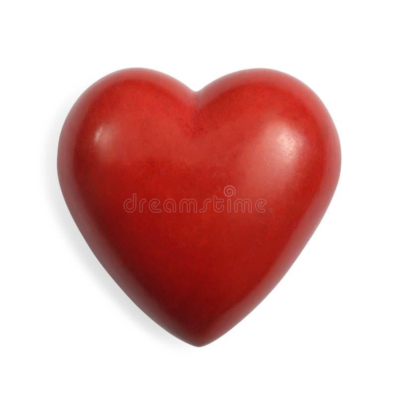 Coeur en pierre rouge d'isolement images libres de droits