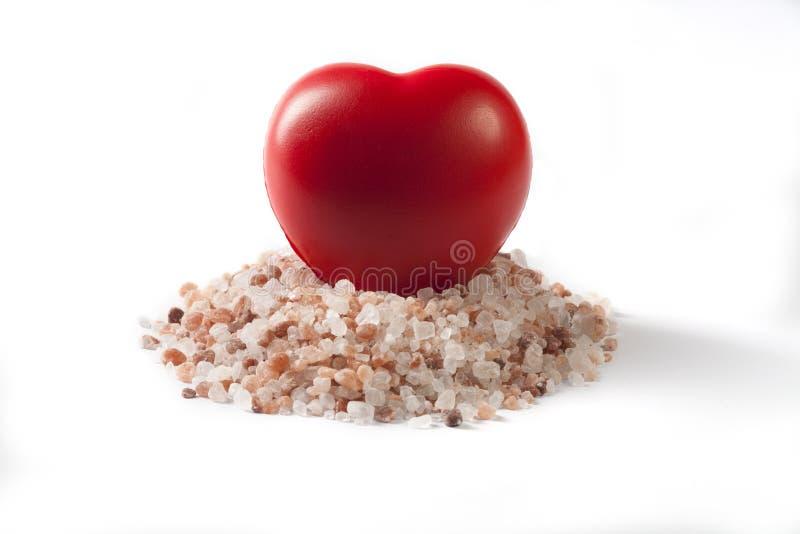 Coeur en sel photographie stock libre de droits