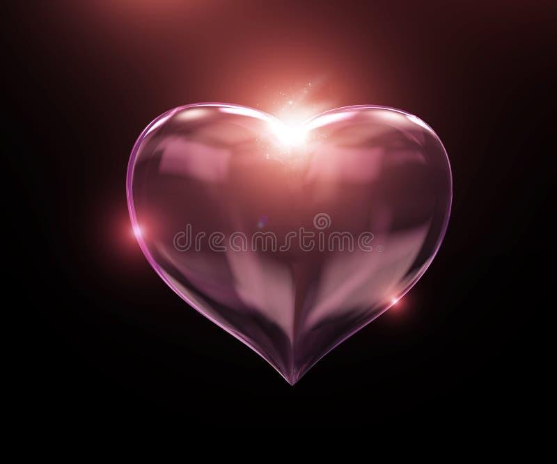 Coeur en verre illustration libre de droits