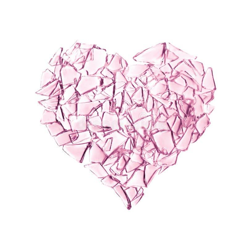 Coeur en verre cassé illustration de vecteur