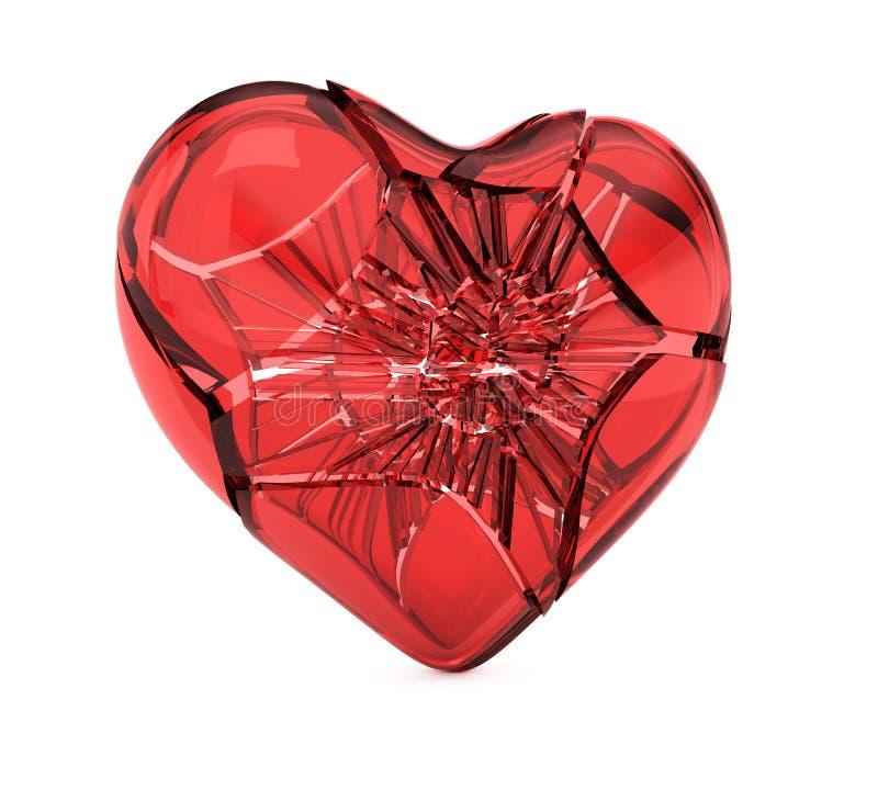 Coeur en verre cassé illustration libre de droits