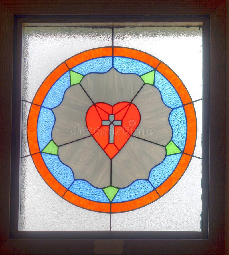 Coeur en verre souillé. photo libre de droits