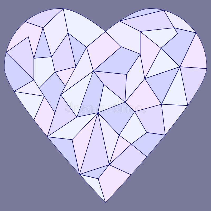 Coeur en verre souillé illustration de vecteur