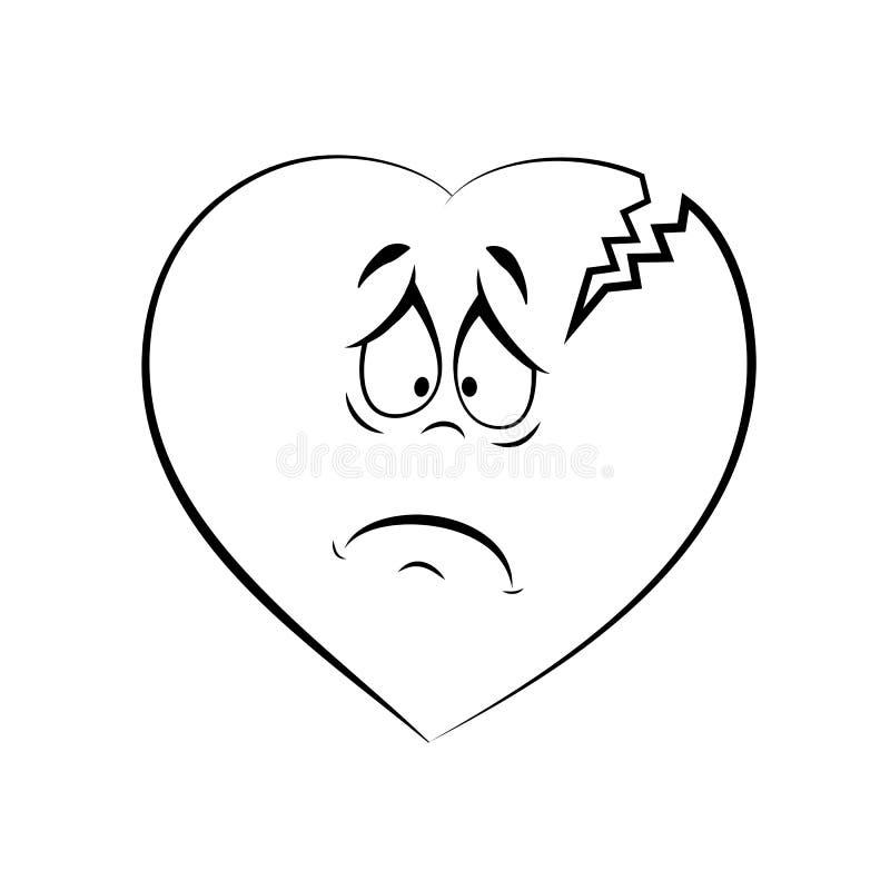 Coeur endolori cassé illustration de vecteur