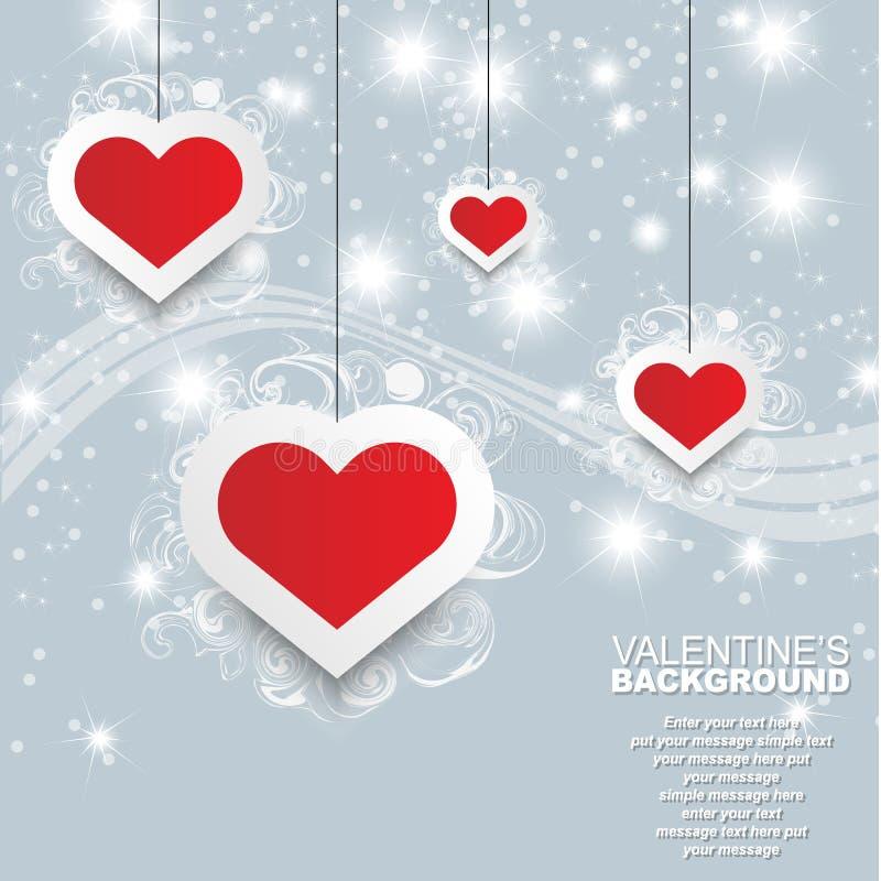 Coeur et amour de Saint-Valentin illustration stock