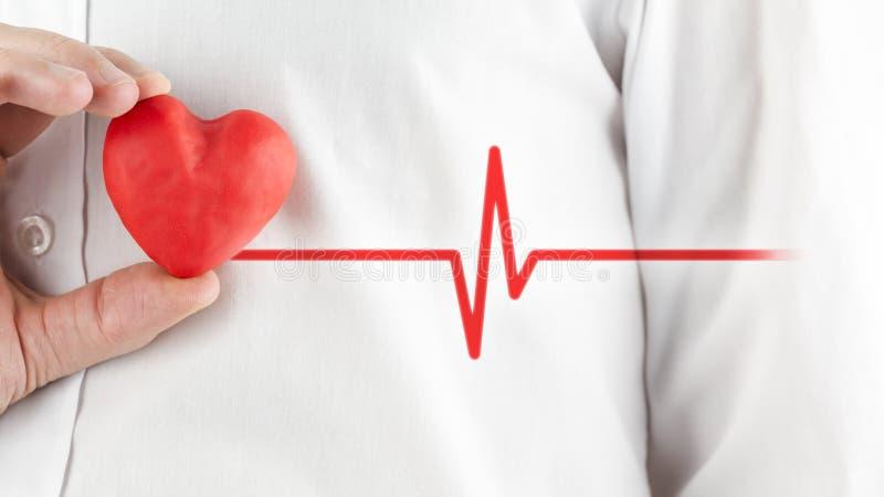 Coeur et bonnes santés sains photographie stock libre de droits