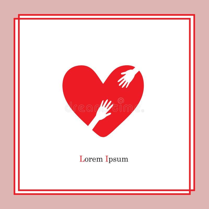 Coeur et hand2 illustration libre de droits