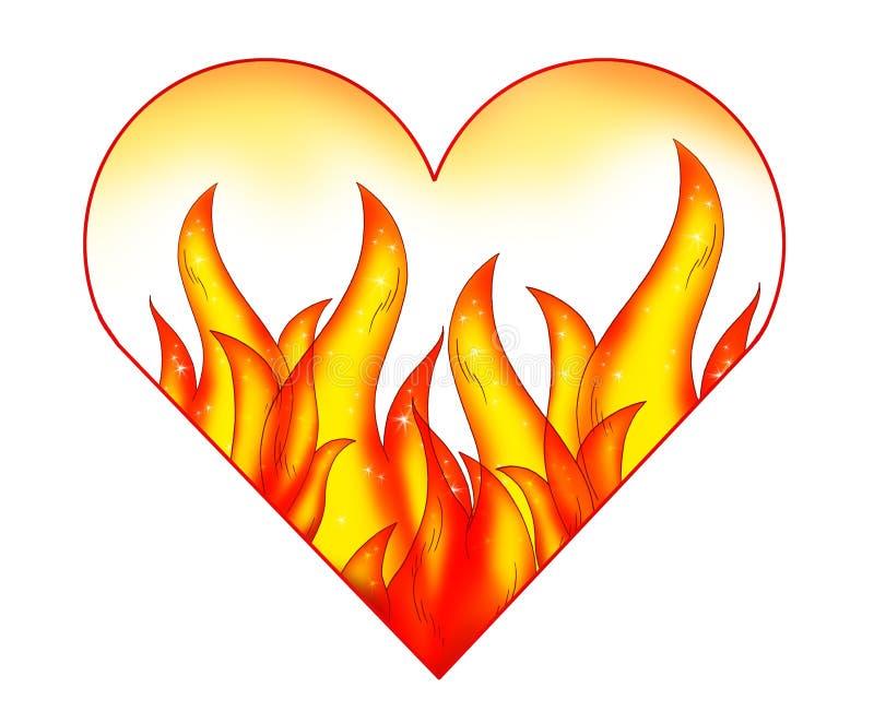 Coeur et passion illustration libre de droits