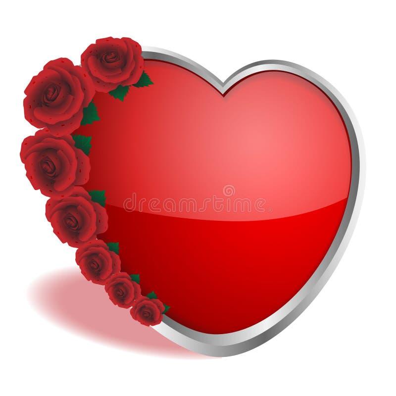 Coeur et roses illustration libre de droits