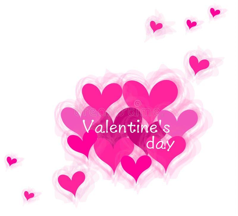 Coeur et Valentine Word Images et illustration illustration stock