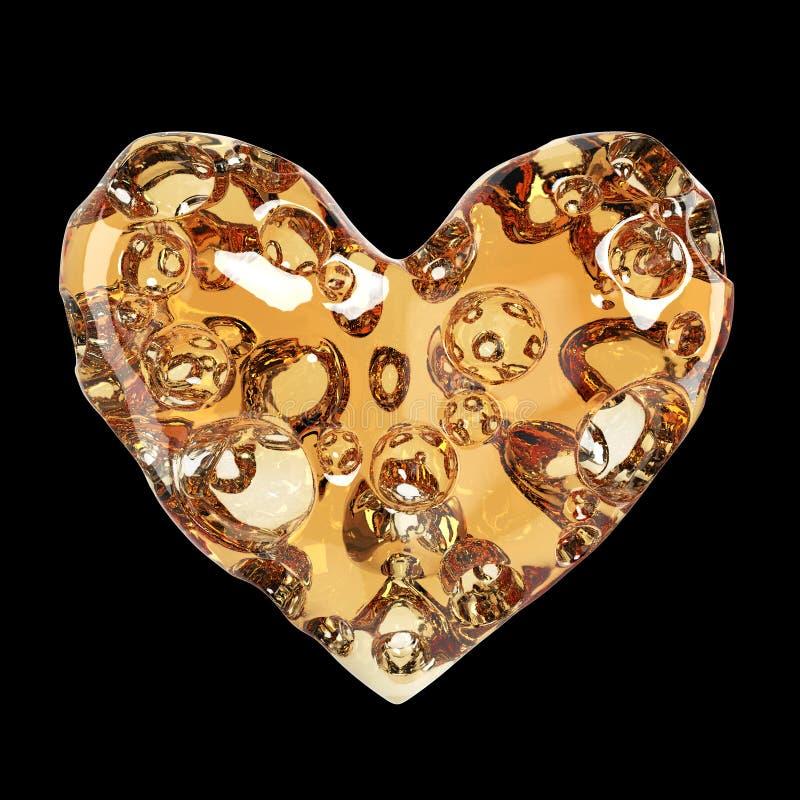 Coeur fait de fromage avec des trous Rendu de haute qualité Amour de concept pour, jour de valentines, romance, passion, d'isolem illustration libre de droits