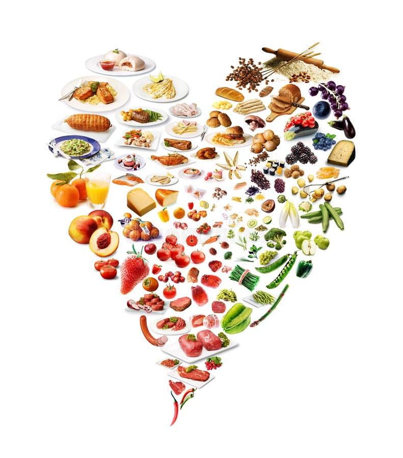 Coeur fait de nourriture photographie stock