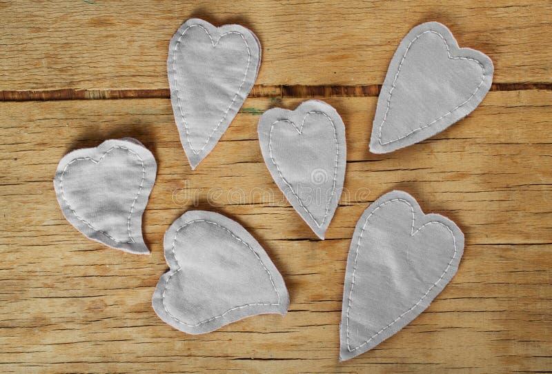 Coeur fait de tissu image libre de droits