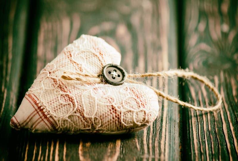 Coeur fait de tissu photos libres de droits