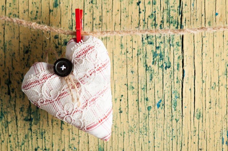 Coeur fait de tissu photo stock