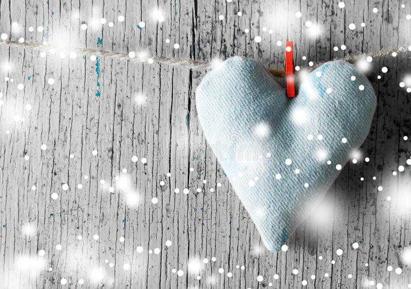 Coeur fait de tissu images stock
