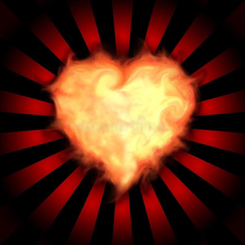 Coeur flamboyant illustration de vecteur