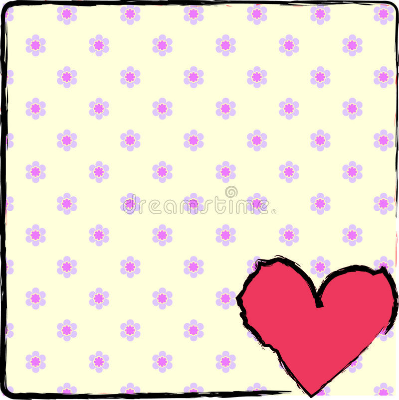 Coeur fleuri image stock