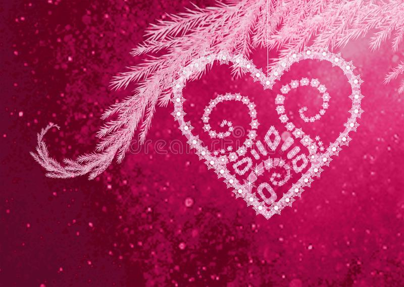 Coeur flocon royalty-vrije stock afbeeldingen