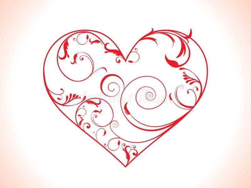 Coeur floral abstrait illustration libre de droits