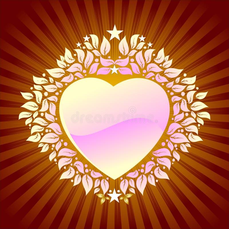 Coeur floral de fond illustration libre de droits