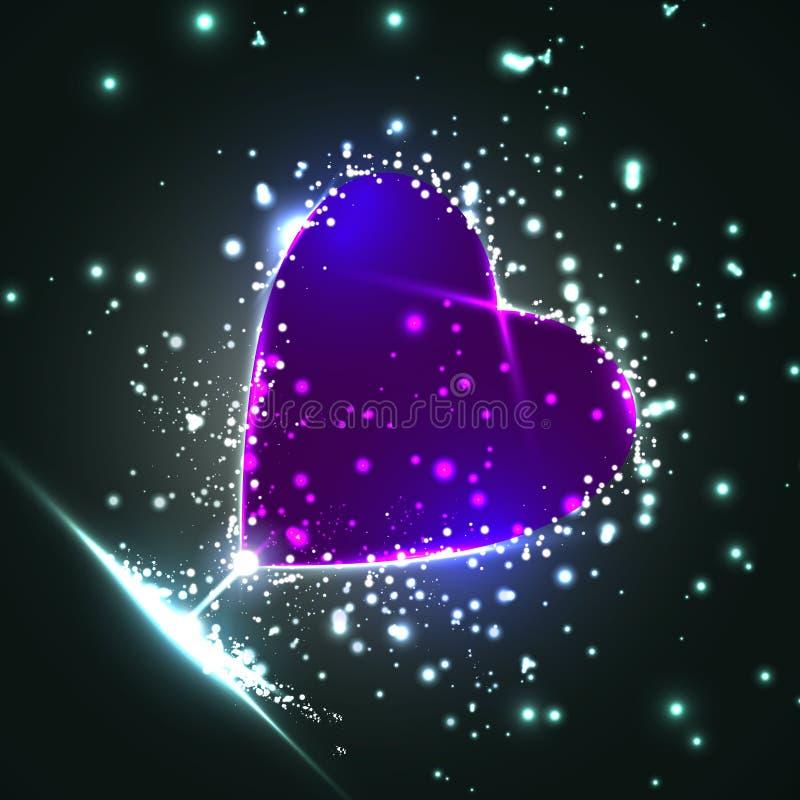 Coeur futuriste illustration de vecteur